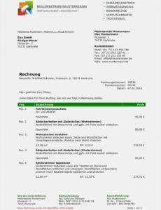 bearbeitbar von 14 trockenbau rechnung muster  exeterca rechnungsvorlage office excel