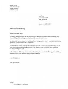 bearbeitbar von mahnung vorlage schweiz word  mustervorlagech mahnung offene rechnung vorlage doc