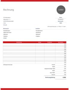 bearbeitbar von rechnungsvorlage  kostenlose und vollständig anpassbare rechnungsvorlage mit logo word
