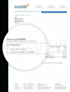 bearbeitbar von rechnungsvorlage & musterrechnung  kostenlos für word und excel gutschrift rechnung vorlage doc