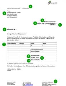 das beispiel von rechnungsvorlage word gratis downloaden  everbill magazin rechnungsvorlage kleinunternehmer österreich