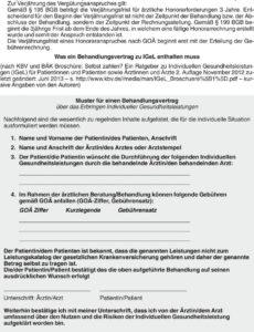 das sample von hinweise zur abrechnung von igelleistungen  pdf free download igel rechnung vorlage pdf