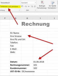 das sample von how to create professional invoice templates in excel 20162019 rechnungsvorlage office pdf