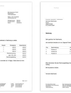 das sample von pages vorlage rechnung  numbersvorlagende rechnung usa vorlage