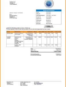das sample von rechnung ferienwohnung vordruck kostenlos 14 vorlage rechnungsvorlage ferienwohnung excel