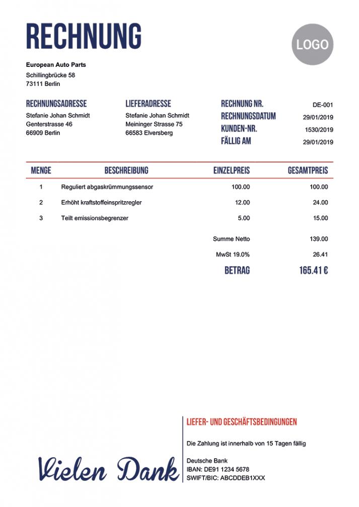druckbar von 100 kostenlose rechnungsvorlagen  erstellen sie eine pdf makler rechnung vorlage doc