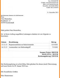 druckbar von 15 rechnung von privat vorlage  exeterca rechnungsvorlage privat an firma pdf