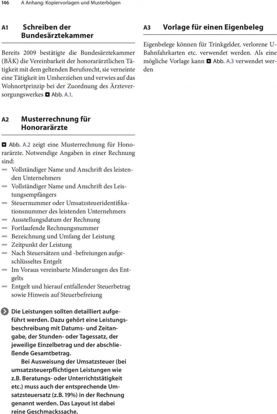 druckbar von a anhang kopiervorlagen und musterbögen  pdf free download honorararzt rechnung vorlage word