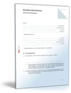 eine probe von behandlungsvertrag  vorlage zum download igel rechnung vorlage doc