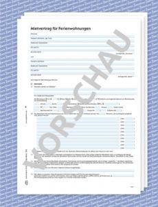 eine probe von mustermietvertrag ferienwohnung  zweckform vorlage rechnung vermietung ferienwohnung pdf