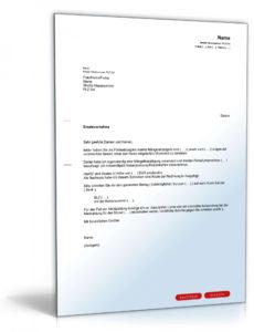 eine probe von zahlungsaufforderung an vermieter  muster zum download rechnung an vermieter vorlage doc