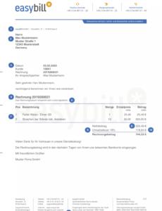 bearbeitbar von die 10 bestandteile einer rechnung rechnung mit steuernummer vorlage
