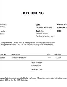 das sample von umsatzsteuer im b2b ecommerce das gilt es zu beachten  by reverse charge rechnung vorlage pdf