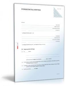 druckbar von einstellvertrag pferd rechtssicheres muster zum download tierarzt rechnung vorlage excel