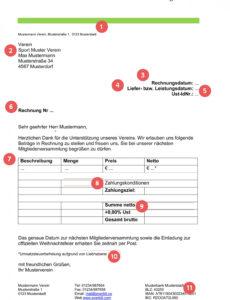druckbar von musterrechnung für deinen verein  everbill magazin sponsoring rechnung vorlage pdf