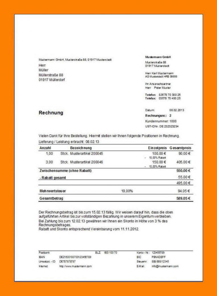 eine probe von 15 rechnung barzahlung muster  exeterca rechnungsvorlage barzahlung pdf