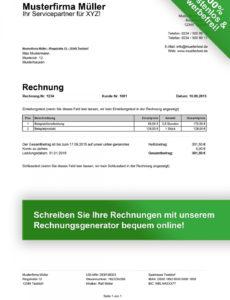 eine probe von rechnungsvorlagen kostenlos  rechnungsvorlage für jeden zweck rechnung referententätigkeit vorlage pdf