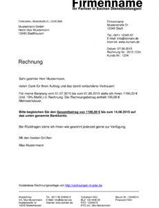 bearbeitbar von rechnungsvorlagen kostenlos  rechnungsvorlage für jeden zweck private rechnung schreiben vorlage doc
