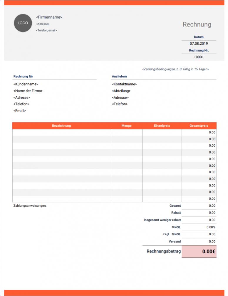 das beispiel von rechnungsvorlage  kostenlose und vollständig anpassbare kosten nutzen rechnung vorlage pdf