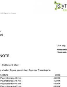 das sample von die einfache psychotherapiesoftware für einzel und rechnung heilpraktiker psychotherapie vorlage doc