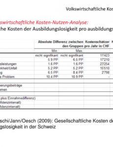 das sample von ppt  betriebswirtschaftliche kostennutzenanalyse kosten nutzen rechnung vorlage