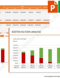 das sample von vorlage kostennutzenanalyse  projekte leicht gemacht kosten nutzen rechnung vorlage pdf