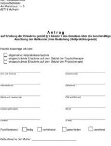 eine probe von informationen für angehende heilpraktikerinnen  pdf rechnung heilpraktiker psychotherapie vorlage excel