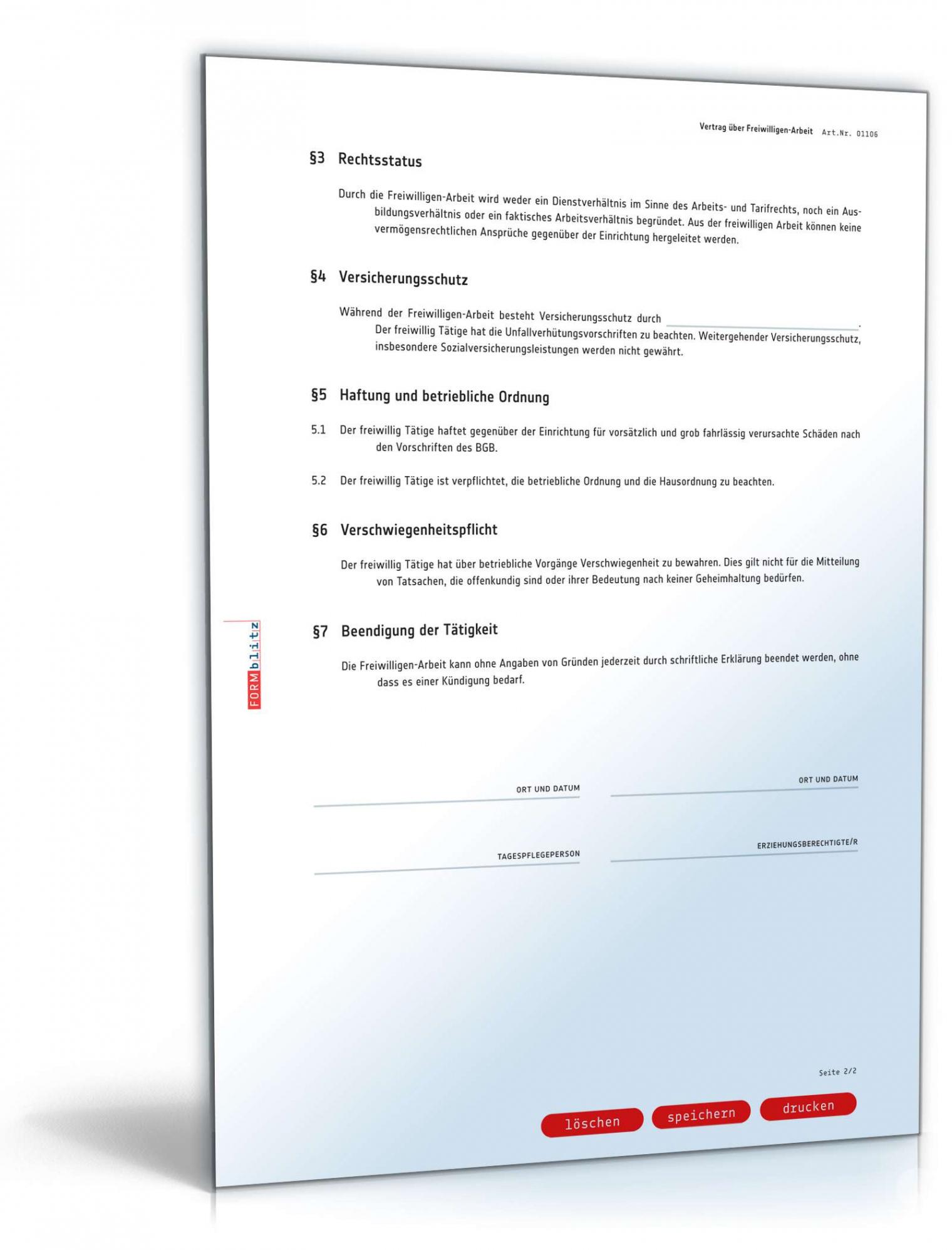 bearbeitbar von ehrenamtsvertragvertrag freiwilligenarbeit  muster zum vereinbarung ehrenamtliche tätigkeit pdf