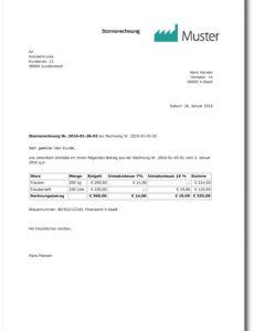 bearbeitbar von rechnungskorrektur oder gutschrift? so geht´s richtig! vorlage rechnung provision pdf