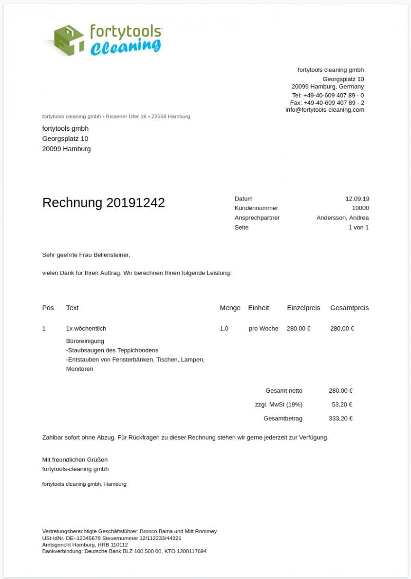 bearbeitbar von rechnungsvorlage und musterrechnung kostenlos rechnung hausmeisterservice vorlage