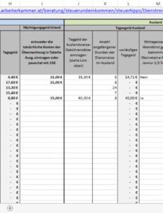 das sample von excelvorlage reisekosten kilometergeld & tagegeld für rechnung kilometergeld vorlage pdf