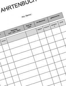 das sample von fahrtenbuch muster jetzt kostenlos herunterladen rechnung kilometergeld vorlage doc
