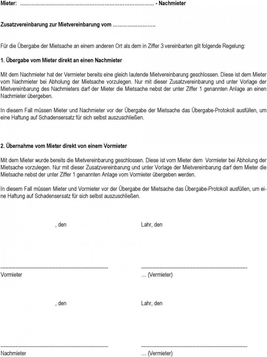 das sample von mietvereinbarung zwischen  pdf free download vereinbarung vormieter nachmieter pdf