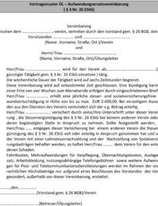 das sample von musterverträge ehrenamtfreiberufler  pdf free download vereinbarung ehrenamtliche tätigkeit doc