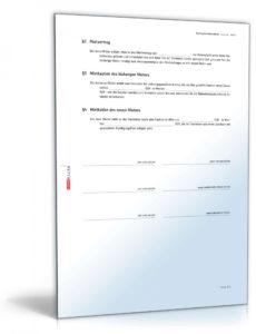 das sample von nachmietervertrag zur wohnungsübernahme muster zum download vereinbarung vormieter nachmieter doc