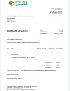 das sample von rechnungsvorlage und musterrechnung kostenlos vorlage einer rechnung doc