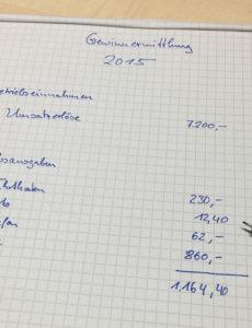 das sample von wo finde ich eine eür vorlage zur formlosen gewinnermittlung? einnahmen überschuss rechnung kleingewerbe vorlage