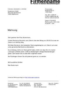druckbar von mahnung muster  kostenlose muster für mahnungen rechnung bereits bezahlt vorlage