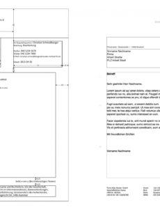 druckbar von pages norm din 5008 brief vorlage  numbersvorlagende rechnung din 5008 vorlage