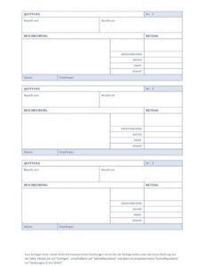 druckbar von quittungsvorlage schweiz chf  kostenlos herunterladen rechnung quittung vorlage pdf