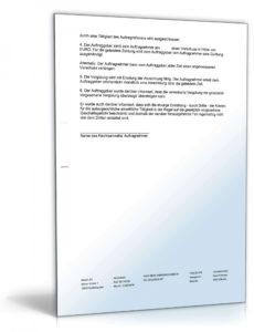 druckbar von vergütungsvereinbarung rechtsanwalt  vorlage zum download vereinbarung über einen vorschuss excel