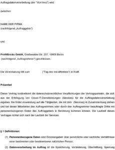 eine probe von vereinbarung zur auftragsdatenverarbeitung  pdf free download vereinbarung auftragsdatenverarbeitung pdf