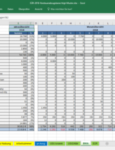 druckbar von excelvorlageeinnahmenüberschussrechnung eür » pierre tunger vorlage einnahmen überschuss rechnung pdf