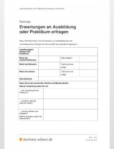 Beispiel Erwartungen An Mein Praktikum Vorlage PDF Bearbeitbar