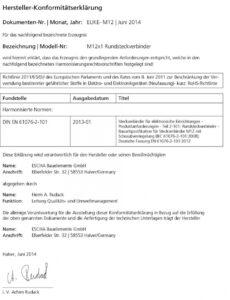 Beispiel Konformitätserklärung Vorlage Elektro PDF Bearbeitbar