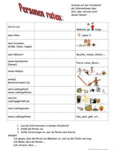 Beispiel Steckbrief Auf Französisch Vorlage Word Frei