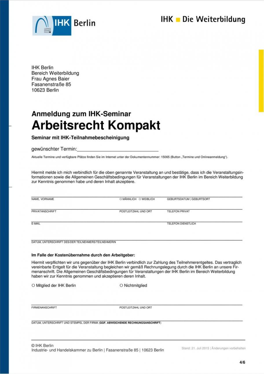 Beispiel Teilnahmebescheinigung Vorlage Seminar PDF Druckfähig