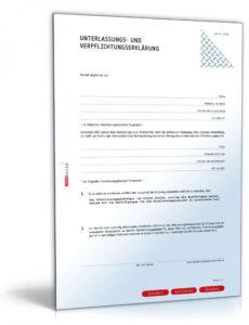 Beispiel Unterlassungserklärung Vorlage Excel