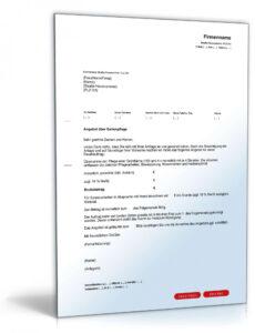 Beste Anschreiben Angebot Vorlage PDF Druckfähig