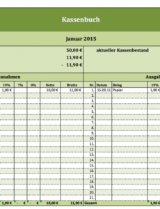 Beste Kassenbuch Verein Vorlage Excel Frei